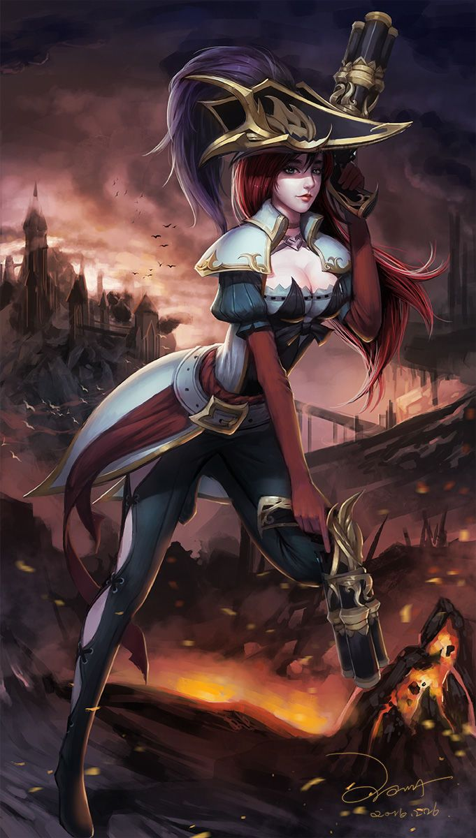 league-of-legends-sexy-girls:   Miss Fortune - league of legends & anime