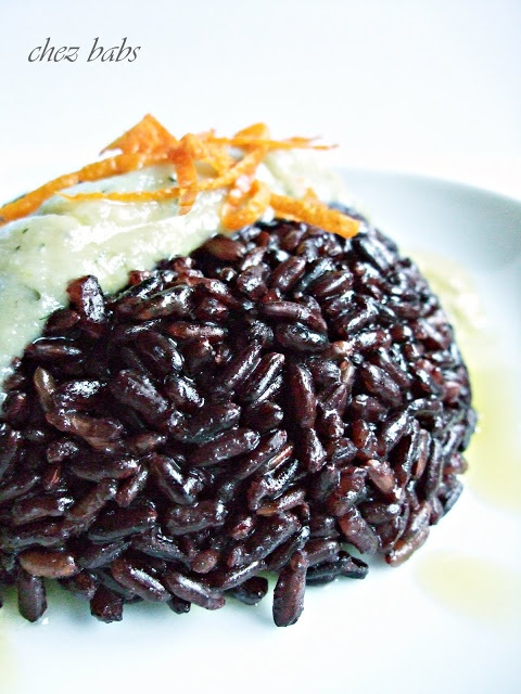 Riso nero con salsina di zucchine