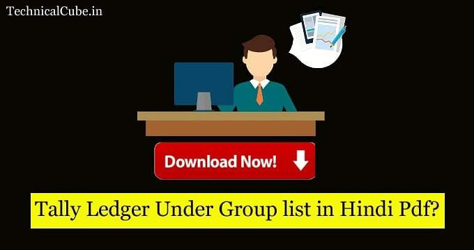 Tally Ledger Under All Group List Pdf File In 2020 List Pdf Group