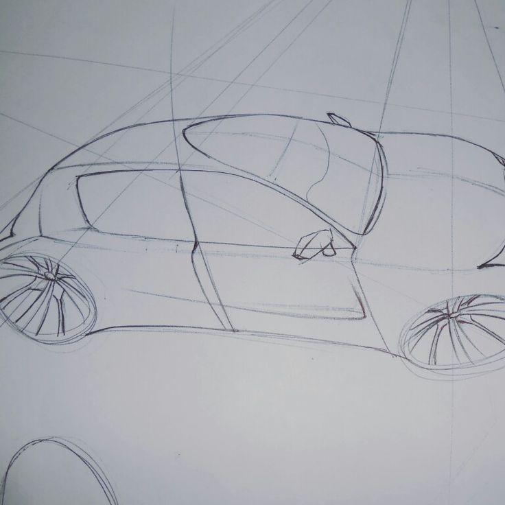 Proyección fugada 3/4 de automóvil conceptual, #sketching #Sketch #bocetaje #boceto #diseño #cardesign #diseñoautomotriz #autos #auto #carro #car #cars #carproyection #proyecciondeauto #vistadeauto #carview