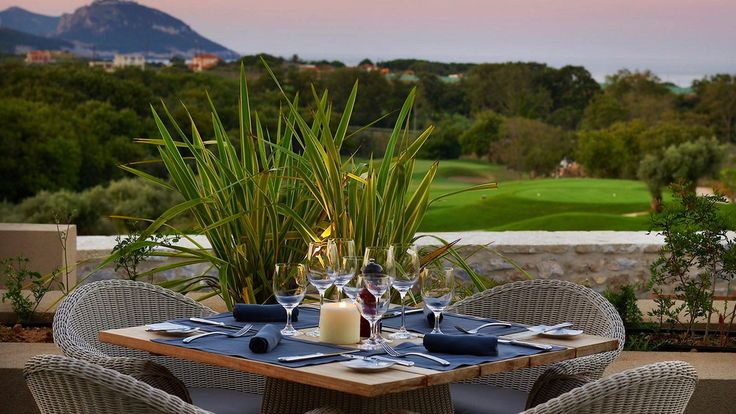 Enjoy your traditional dinner with the view of the Dunes Course in Messinia.