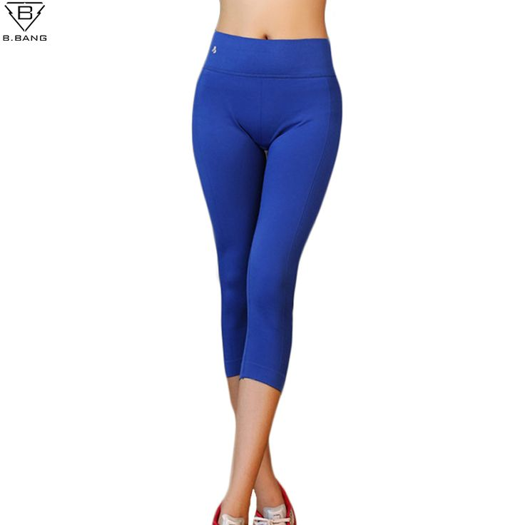 B.BANG Women Running Tights Sport Pants for Workout Fitness Gym Sports Capris for Woman Elastic Running Trousers Pants S-L