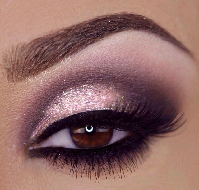 MakeupDramatics: Day Makeup, Brown Eye, Wings Eyeliner, Pink Eye Makeup, Valentines Day, Makeup Ideas, Eyemakeup, Wedding Makeup, Prom Makeup