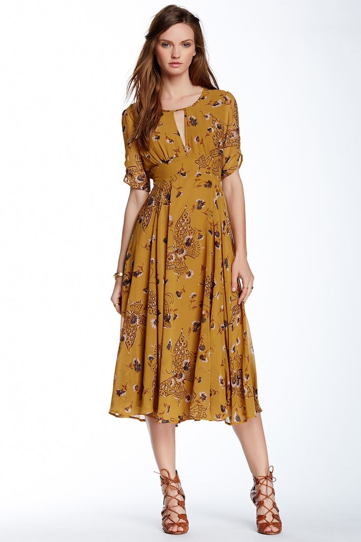 Free People | Bonnie Floral Print Dress _ Looks a little like that new Lisette Pattern Butterick 6168
