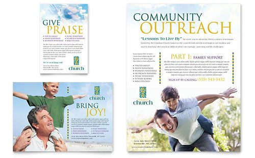 Christian Church - Leaflet Template Design Sample