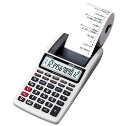 CALCULADORA CASIO HR-8TM-GY - Com Bobina 12 Dígitos   Tipo de produto:  Impressão em 1 Cor. Memória Independente. Número de teclas 12.  Conteúdo da embalagem: 1 Peça.  Dimensões aproximadas do produto - cm (AxLxP)4,1x9,9x19,6cm  Peso aproximado do produto - 340g  Garantia do fornecedor 6 meses.  Modelo: HR-8TM  Fornecedor: Eletrônicos Prince  SAC: Eletrônicos Prince.  Código de Barras: 4971850174790