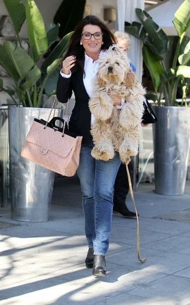Lisa Vanderpump Photos - Reality TV star Lisa Vanderpump takes her pooch shopping in Beverly Hills on March 8, 2016. - Lisa Vanderpump Shops with Her Dog