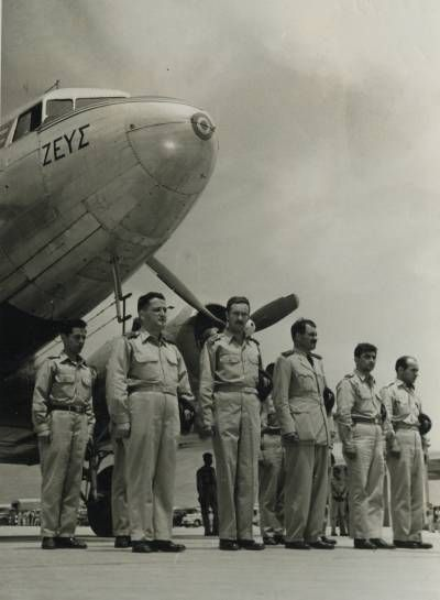 Crews of 13 Flight assemble before the 6,000-mile flight to Korea
