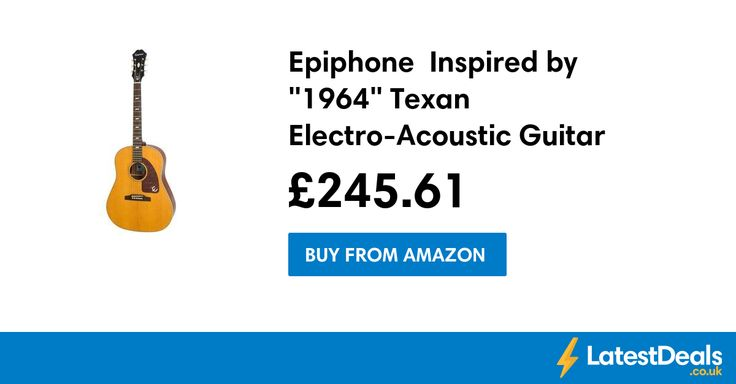 """Epiphone  Inspired by """"1964"""" Texan Electro-Acoustic Guitar Save £123.39, £245.61 at Amazon"""