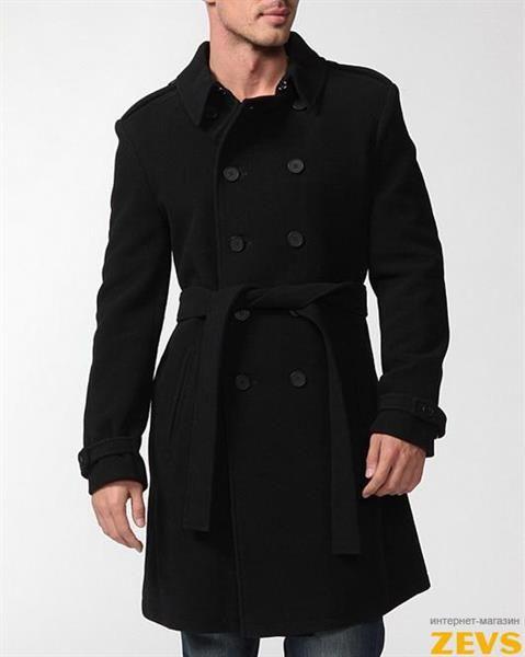 Пальто мужское двубортное макси купить