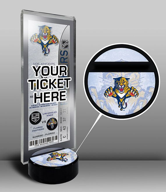 Florida Panthers Hockey Puck Ticket Display Stand - Team Logo or My First Game