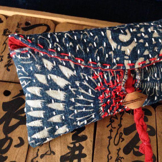 Etsy - hand-sewn katazome pouch