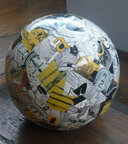 collage bola amarillo