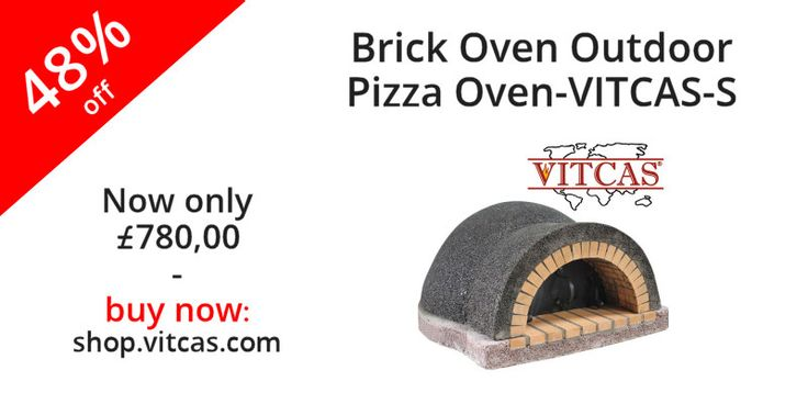 Wood-Fired Outdoor Pizza Brick Oven Vitcas-S small sized ideal for British outdoor living style. Now 48% off. Buy now: http://shop.vitcas.com/brick-oven-outdoor-pizza-oven-vitcas-s-712-p.asp