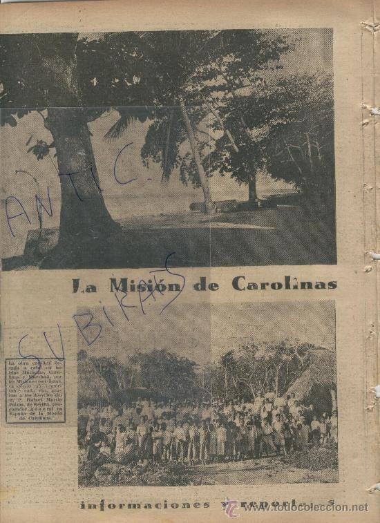 Coleccionismo de Revistas y Periódicos: ABC.AÑO 1938.GUERRA CIVIL.LAS MISIONES ESPAÑOLAS EN LAS ISLAS CAROLINAS.MARIANAS.MARSHALL.R.MARTIN - Foto 1 - 28406616