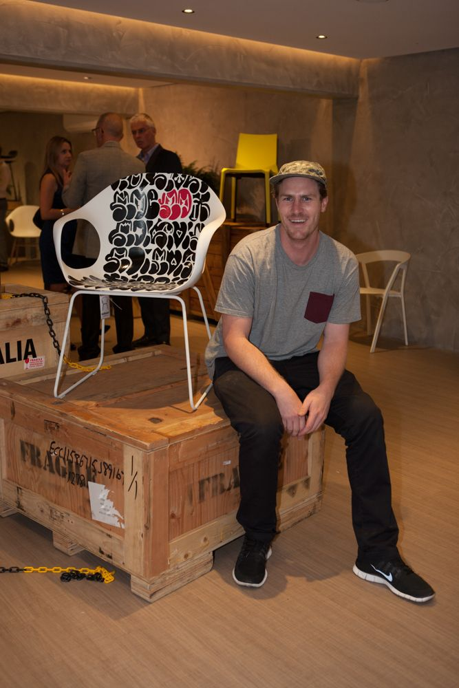 3 URBAN ARTISTS LET LOOSE ON 3 ICONIC KRISTALIA DESIGNS Jumbo, Numskull & Roach at Fanuli Furniture #Jumbo #Numskull #Roach  @Fanuli Hall Furniture