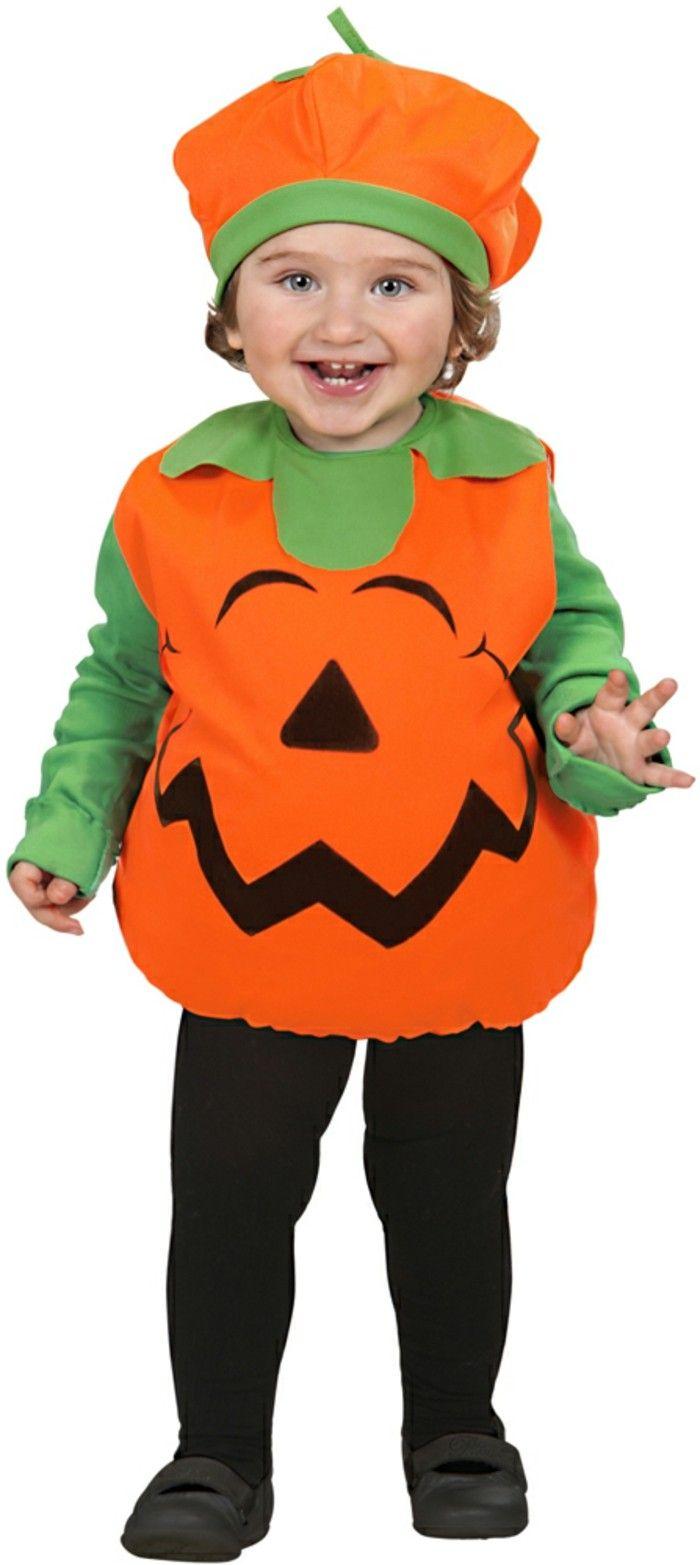 costume enfant citrouille Kiabi en orange et vert