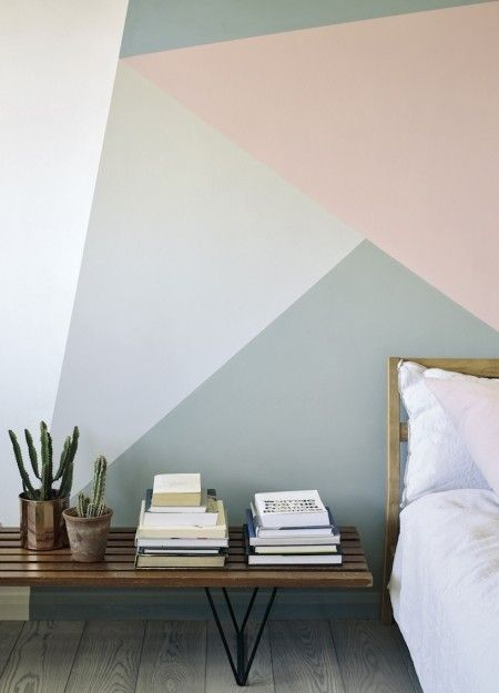 25 best ideas about geometric wall on pinterest for Bedroom painting ideas india