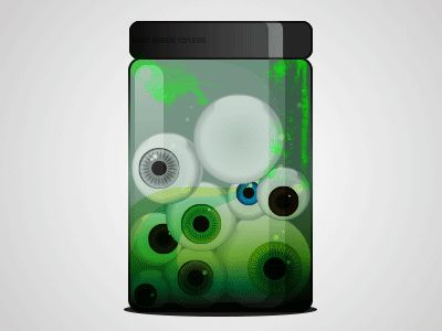 A jar with EYES by Thomas Olofsson