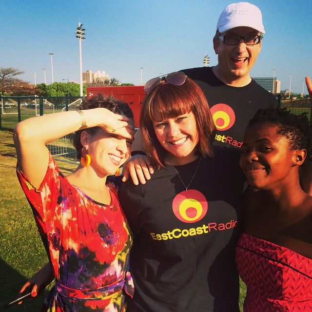 Abi, Kyla and Zolani have all been struck off the photobomb hitlist in one swoop