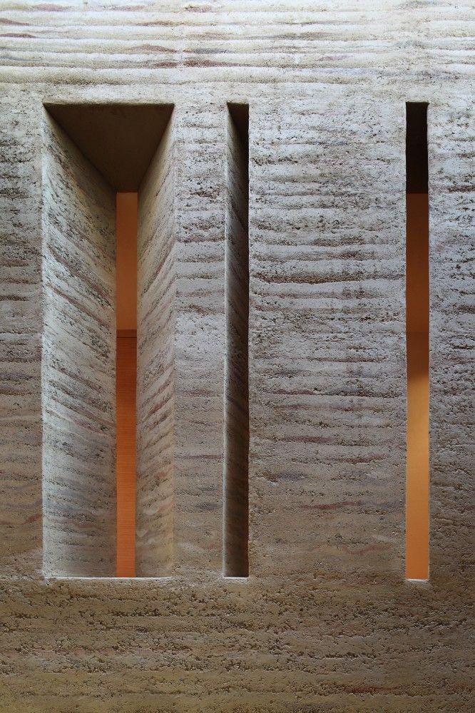 Rammed earth interior walls - House Gulm / Aicher Ziviltechniker GmbH