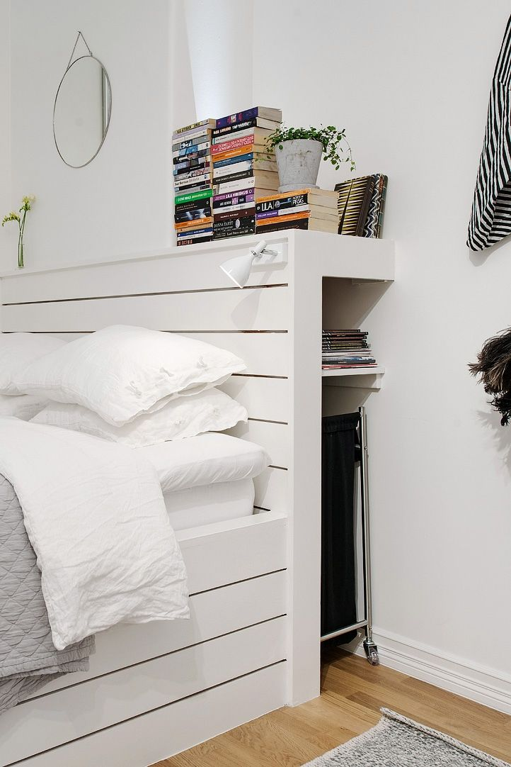 Location Built bed frame with convenient storage #bedroom