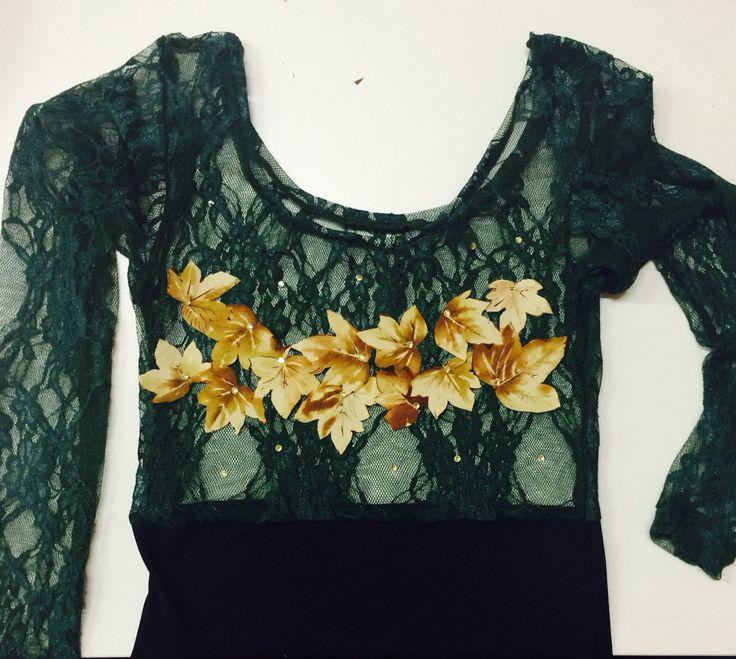 Body autumn 2014 lace leaf swarosky
