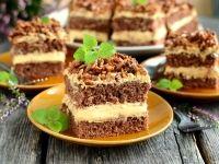 Ciasto ze słonecznikiem i kremem karmelowym