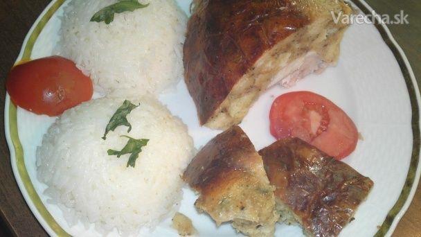 Plnené pečené kura v mojej úprave (fotorecept) - Recept