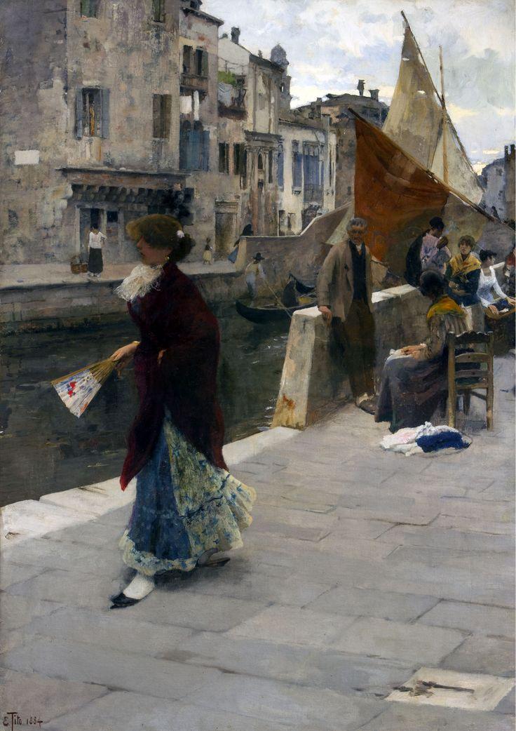 La fa la modella - Ettore Tito, 1884