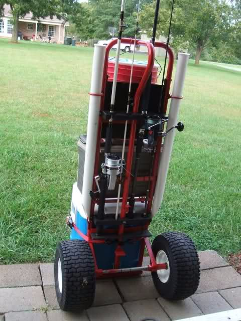 242 best homemade stands and dollies images on pinterest for Homemade fishing cart