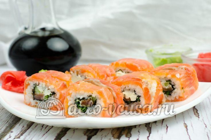 #Роллы #Филадельфия http://delo-vcusa.ru/recept/domashnie-rolly-filadelfiya/ #рецепты #кулинария