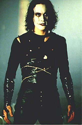 """He was already dead. He died a year ago. The moment he touched her. They're all dead. They just don't know it yet."" ~ Eric Draven Loved Brandon Lee and The Crow. It's still one of my favorite movies of all time!"