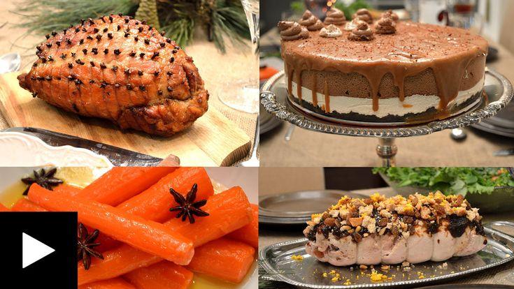 Ένα πλήρες εορταστικό δείπνο πέντε πιάτων ετοιμάσαμε για τα φετινά Χριστούγεννα! Όλο το σπίτι μυρίζει γλυκά μπαχαρικά, ζεσταίνοντας την γιορτινή ατμόσφαιρα.   Έψαχνα τις τελευταίες εβδομάδες για να βρω τις καλύτερες αλλά και νοστιμότερες συνταγές. Γνωρίζω ότι η γαλοπούλα είναι δύσκολη, συχνά ξερ
