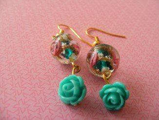 Handmade jewelry - Zoet Geluk #oorbellen #earrings # handgemaakt #zelfgemaakt #sieraden #vintage