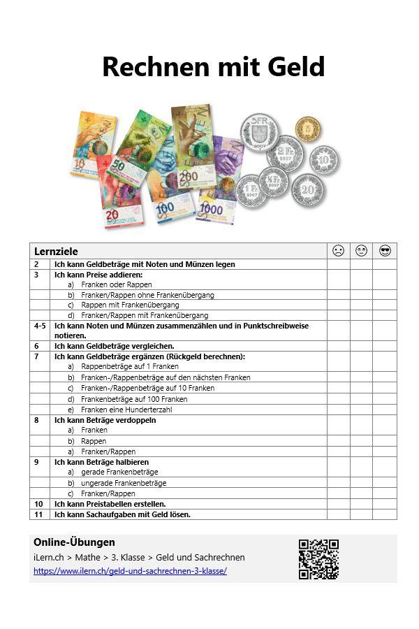 3 klasse mathe rechnen mit geld