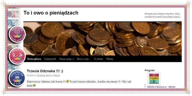 To i owo o pieniądzach (Blog Gosi, Uli, Weroniki i Pauliny)  http://blogiceo.nq.pl/toiowoopieniadzach/