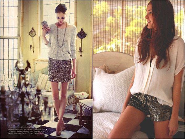 Pailletten Rock und Hose sparkle and Shine Fashion Style 2014