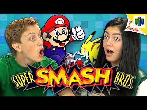 Benny and Rafi Fine of The Fine Brothers show teens playing and battling each other in Super Smash Bros., a game that released on the Nintendo 64 video game console in 1999, on their latest episode...