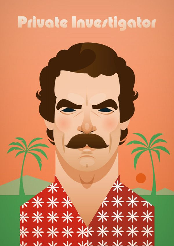 august 21, hawaii becomes 50th state in 1959  (magnum p.i. illustration by stanley chow)