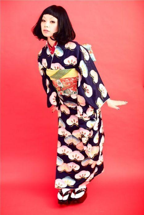 Contemporary kimono fashion shoot