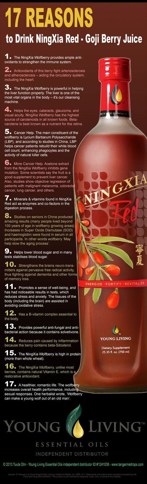17 reasons to drink NingXia Red Goji berry juice http://tangerinedrops.com/17-reasons-drink-ningxia-red-goji-berry-juice-infographic: