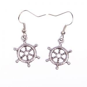 Sailor's rudder earrings