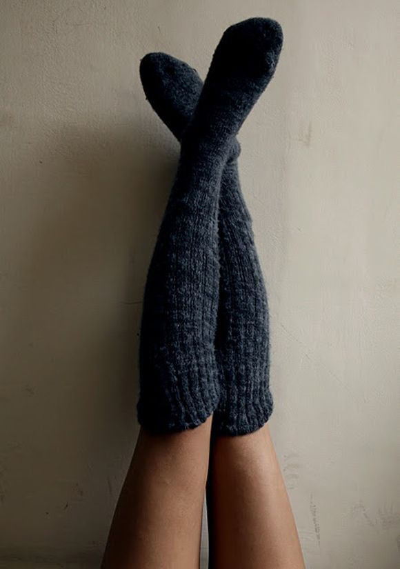 I love thick, woolen over the knee sox so much, we plan to have the sheep to make dreamy good sox like these, hopeful,  next year.