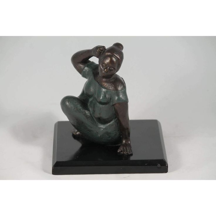 "Francisco Zuniga Bronze/Copper Sculpture ""Woman"""