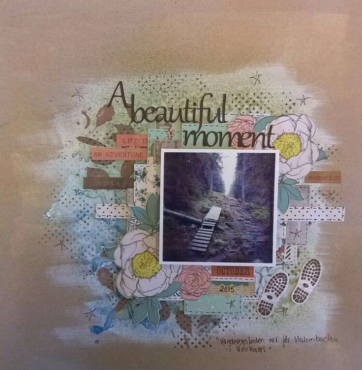 Scrapbooking layouts, American Crafts, mixed media