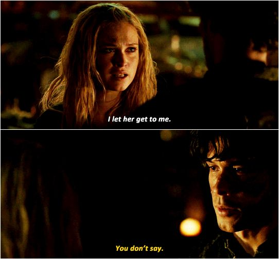 Bellamy Blake and Clarke Griffin || The 100 season 3 episode 11 - Nevermore || Bellarke || Bob Morley and Eliza Jane Taylor