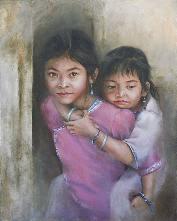 33 best chinese art images on pinterest china painting antiques chinese sisters art print by bin feng sciox Gallery