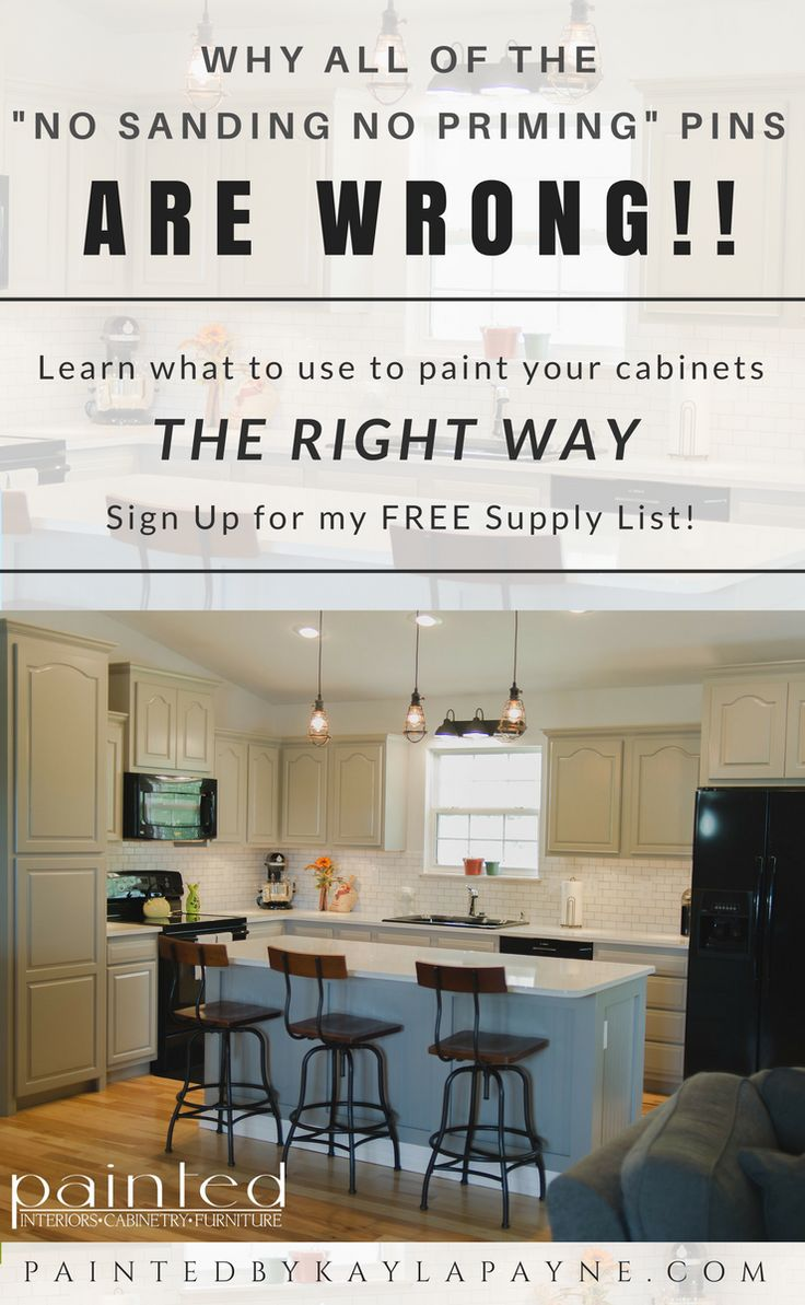 Anything worth doing is worth doing the RIGHT WAY! Sign up to get my full supply list with everything you'll need to know straight from a professional painter! You'll also be the first to receive details from my DIY Cabinet Painting 101 course!