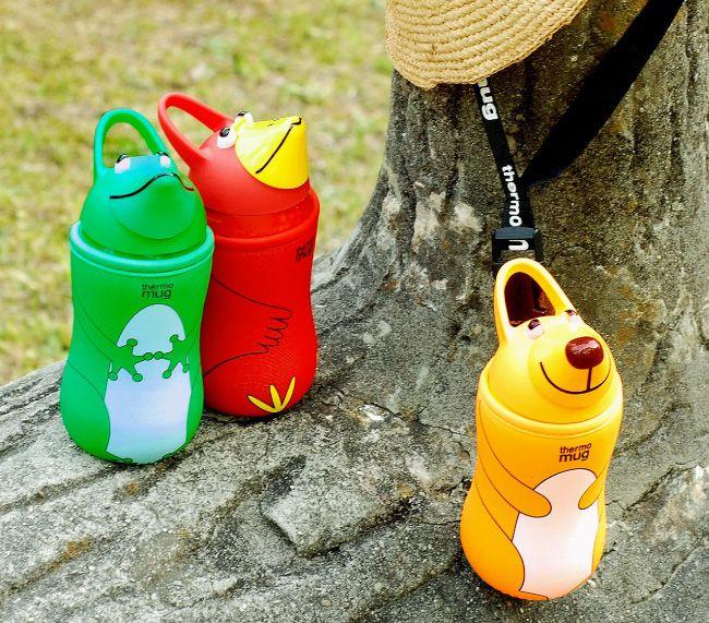 thermo mug(サーモマグ)アニマルボトル 380ml ストロー式 水筒 動物 ステンレスボトル マイボトル